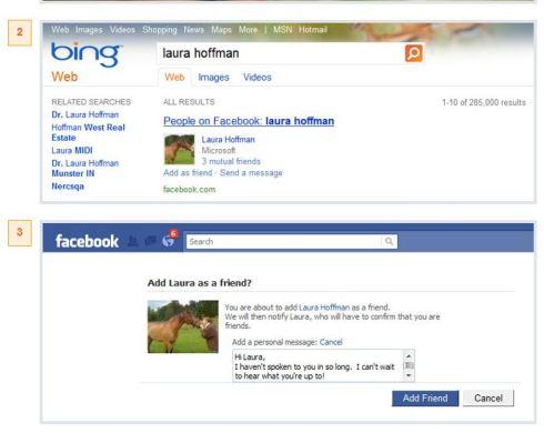 Bing Facebook integration