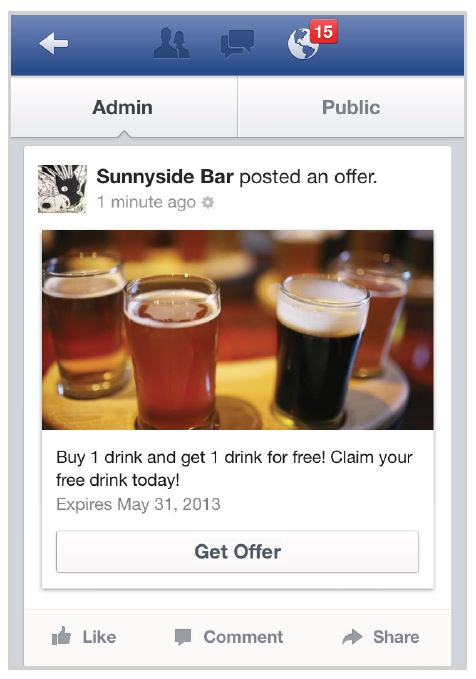 Facebook Offer Page Post