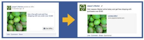 Facebook Online Offer ad