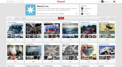 Maersk Line boards on Pinterest